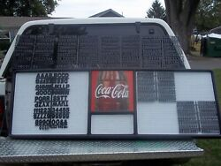 Huge New Coca-cola Menu Board W7 Sets/3 Diff Sizes Of Letters,numbers And Symbols