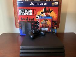 Ps4 Pro Console Red Dead Redemption 2 Limited Edition Box, Games, Headset Bundle
