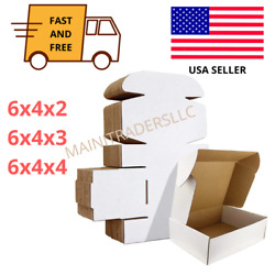 6x4 White Corrugated Mailer Shipping Boxes Bulk 100 Box Lot Us Packaging Mailing