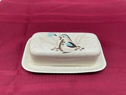 Red Wing Bob White Quail Complete Butter Dish Vintage 1950's Tableware