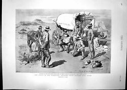 Antique Print Crisis Transvaal Burghers Reading Victory George Boughton1896