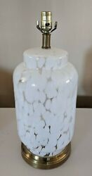 Vintage Carlo Nason For Mazzega Cumulus Glass Table Lamp White Clear 1980s