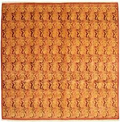 Modern Hand-knotted Carpet 10and0390 X 10and0392 Dark Copper Wool Area Rug