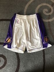 Lakers Game Shorts Authentic Team Issued Chistmas 2015 Size M +0 Adidas Rev30