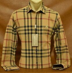 Brand New With Tags MEN#x27;S BURBERRY Long Sleeve SHIRT Size S M L XL 2XL $64.95