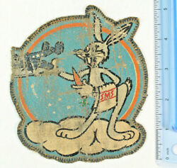 Rare Orig. Usmc Wwii Sms-62 Service Maintenance Squadron 62 Hand Painted Patch
