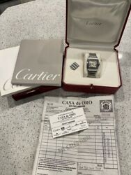 Santos Galbee Menand039s Automatic Stainless Steel Watch - 2319