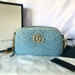 Japan Exclusive Gg Marmont Crossbody Bag Denim Free Shipping From Japan