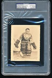 George Hainsworth Single-signed Photo Hof Psa/dna Authentic - Deceased 1950