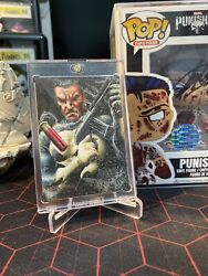 2016 Marvel Masterpieces Sketch The Punisher By Glebe 1/1 Only 8 Sketches Done🔥