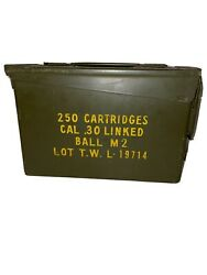 Vintage U.s. Military Ammo Can Ball M2 .30 Linked