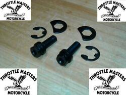 Black Oxide Exhaust Pipe Locking Mounting Kit For Harley Shovelhead 66-and03984