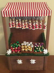 Byers Choice Carolers Glass Ornaments Market Stall 2014 Htf