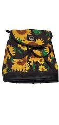 Mini Backpack Purse For Women Floral Sunflower Travel Compact Black Mexican $32.95