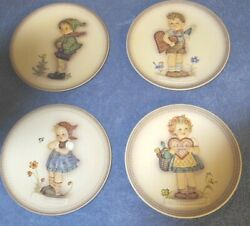 Goebel Hummel 6.25 Set Of Collector Plates 735, 736, 737 And 738