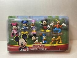 Disney Junior Mickey 8 Pc Collectible Friends Set With Clubhouse Friends New