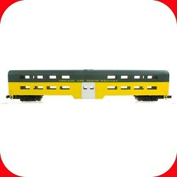 N Scale Chicago And North Western Cnw Bi-level Passenger Commuter Car Con-cor 4411