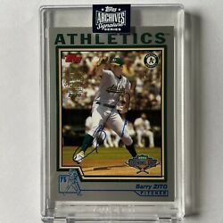 2020 Topps Signature Series Barry Zito Auto /5 Sp Oakland Athletics Buyback
