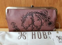 New with Tags Hobo LAUREN Wallet Clutch Embroidered Peace Burnished Rose $124.00