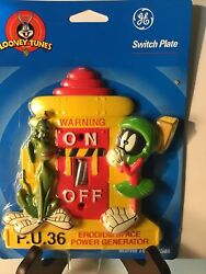 Vintage General Electric Looney Tunes Marvin The Martian Light Switch Plate New