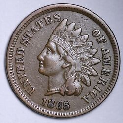 1865 Indian Head Cent Penny Choice Au Free Shipping E120 Snb