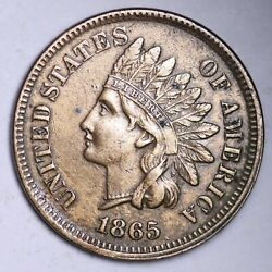 1865 Indian Head Cent Penny Choice Au Free Shipping E121 Wek