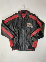 Vintage Tampa Bay Buccaneers Leather Jacket Coat Size Xl Nfl Champions, Nwt