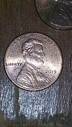 2019 Lincoln Penny Floating Head 2019 D Lincoln Penny Floating Head Mint Errors