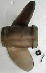 Omc Johnson Outboard Motor Prop- 1970-1978 13 3/4 Dia. X 23 Pitch- Brass Used