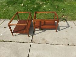 Pair Of Lane Walnut End Tables Mid Century Modern Mcm Side Tables Mcm