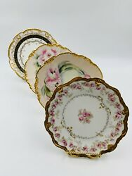 Lot Of 4 Antique Limoges Cabinet Plates Collectible