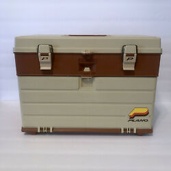 Vintage Plano Tackle Fishing Box 757, 4-drawer Made In Usa Plastic Clean
