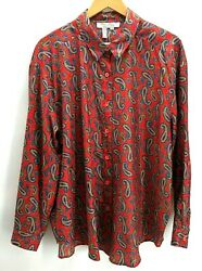 Vintage 70's Laura And Jayne Two Blouse Polyester Red Paisley Career Plus Size 20w
