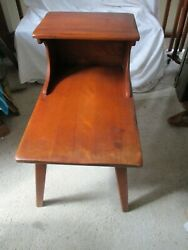 Vintage Cushman Colonial Creations 5208 Two Step Tier Wood Side Table W/tag
