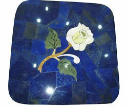 24 Marble Table Top Coffee Dining Center Inlay Blue Lapis Antique H33