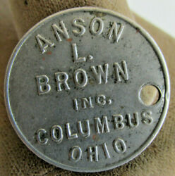 Anson L Brown Inc Columbus Oh Blood Type Tag, Ohio State Lab Tech School Medical