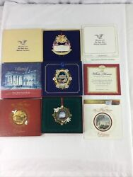 White House Historical Assoc 1995 2004 2013 Christmas Ornaments W Box And Booklet
