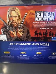 Sony Playstation 4 Pro Console With Red Dead Redemption 2. Ps4
