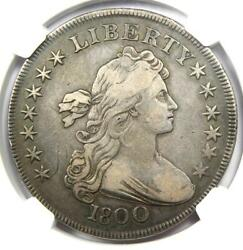 1800 Draped Bust Silver Dollar 1 Coin - Certified Ngc Vf20 - 2675 Value
