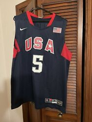 Jason Kidd Usa Olympic Jersey With Torch On Back Of Jersey. Brand New With Tags