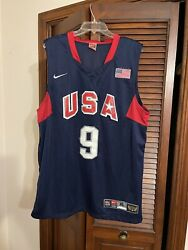 Dwayne Wade Usa Olympic Jersey With Torch. New W/o Tags Size Xl