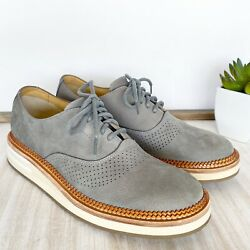 Sperry Top-sider Menand039s Size 8.5m Gray Suede Perforated Seaford Oxfords Ortholite