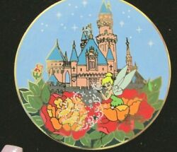 Disney Gomes Tinker Bell And Castle Htf Rare Le 100 Moc Pin