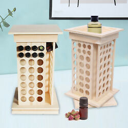 8 Tier Rotating Essential Oil Bottle Holder Wood Display Stand Diffuser Rack New