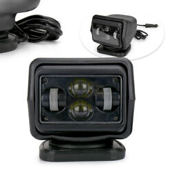 7 60w Led Search Light Rotating Remote Control Driving Spot Lamp Fit Truck Car