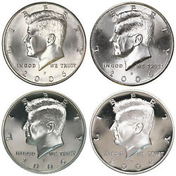 2006 P D S S Kennedy Half Dollar Year Set Silver And Clad Proof And Bu Us 4 Coin Lot
