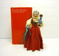 Vintage 1993 Possible Dreams Clothtique Santa Mrs Claus With Doll 6.5 Figurine