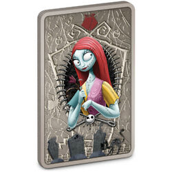 The Nightmare Before Christmas Sally- 2021 1 Oz Pure Silver Coin – Niue Nz Mint