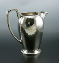 Antique/vintage Chinese Export Silver Hand Hammered Large Water Pitcher