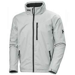 Helly Hansen Crew Hooded Jacket Water Proof Shell Grey Us Mens Sizes 33875-853